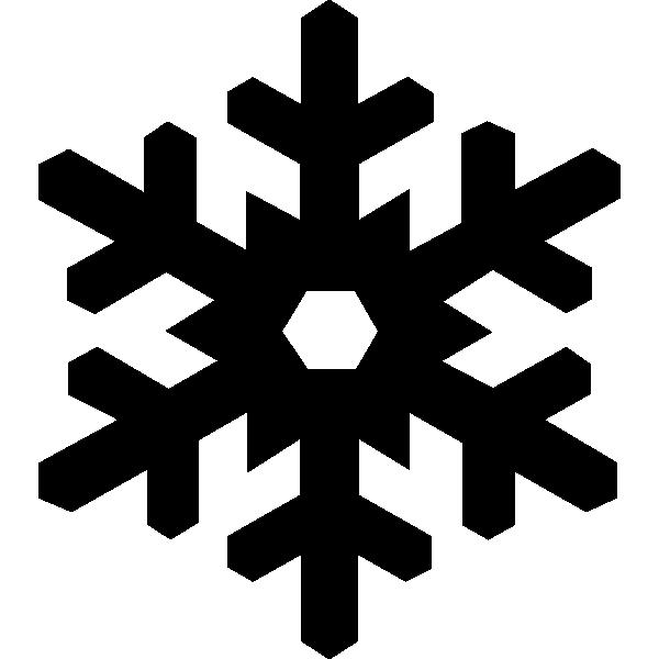 Snowflakes depicting the sentence of snowfall in Jackson Hole